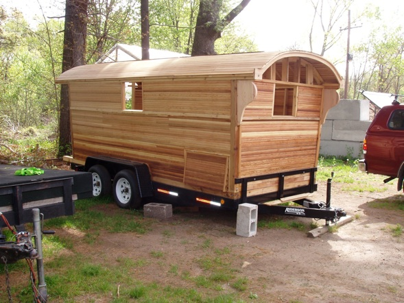 Gypsy wagon floor plans for How to build a tiny house on a trailer